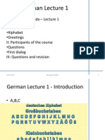 German Lecture 1