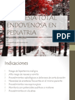Anestesia Total Endovenosa en Pediatria