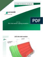 Kiln Inlet Section Casting Procedure (LAFARGE)