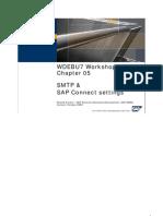 SMTP & SAP Connect Settings