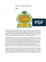 Political Analysis of Sri Lanka