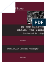 IN THE MARGINS BEHIND THE LINES Collected Writings Volume I