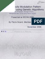 Pulse Density Modulation Pattern Optimization Using Genetic Algorithms (D. Pimentel IECON2006)