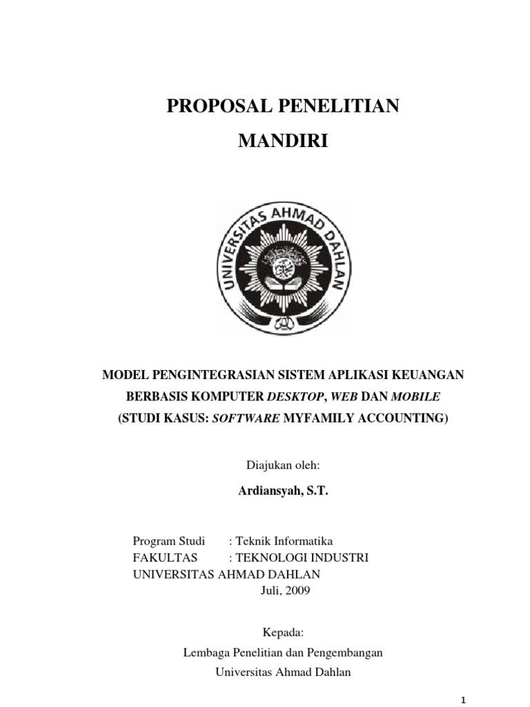 Contoh Proposal Metode Penelitian