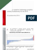 Ustawa budżetowa na rok 2013