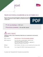 SNCF Trafic Poitou-Charentes Grève 25.10.12