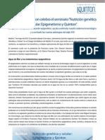 Laboratorios Quinton Celebra Un Seminario en Madrid