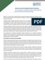 Laboratorios Quinton crea la Fundación René Quinton