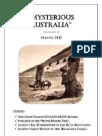 Mysterious Australia Newsletter - August 2012