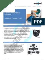 Sistemas Respiratórios Assistidos - Ventilador Tornado Atex