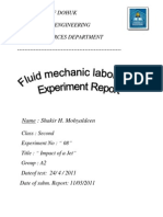 Fluid Mechanics Laboratory (Impact of Ajet )