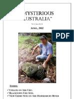 Mysterious Australia Newsletter - April 2012
