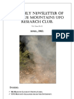 The Blue Mountains UFO Research Club Newsletter - April 2012
