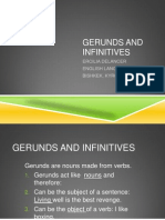 Gerunds and Infinitives - Ercilia