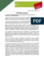 Parlement Europeen Strasbourg_declaration R. Roland