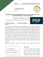 Synthesis and Characterization of a Polyaniline (Pani) Polymethacrylic Acid Composite