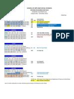 Academic Calendar Aug Dec2012(Student)