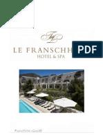 Le Franschhoek Weddings and Functions 2012