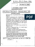 CPF AC 2011 GS Essay Comprehension