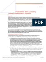 Top Ten Consideration When Evaluating Unified Communications Solutions