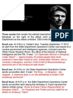 Three Emails • Benghazi Alerts