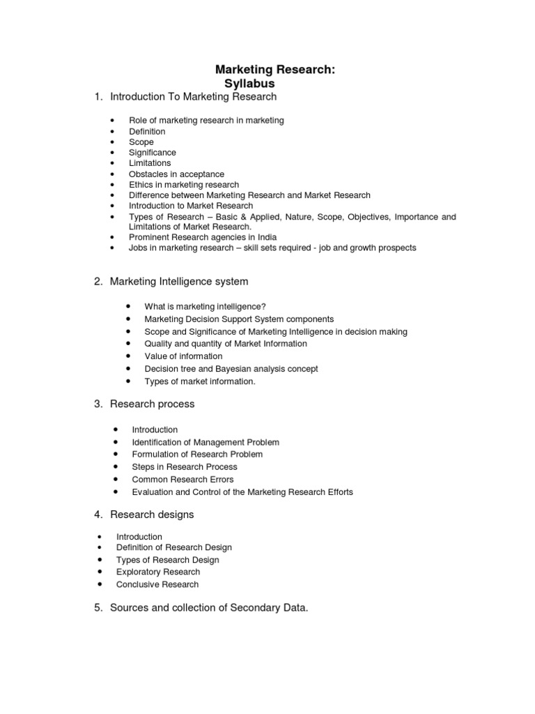 Marketing Research Marketing Research Statistical Hypothesis Testing