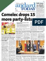 Manila Standard Today - Thursday (October 25, 2012) Issue