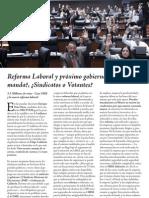 Reforma Laboral Gobierno Quien Manda Sindicato o Votantes