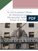 Revista Oir Ahora Nro9 Nueva Oficina de Orientación para la Discapacidad Auditiva del Senado de la Nación
