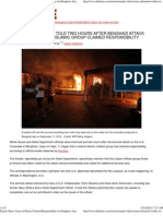 Emails Show Ansar Al-Sharia Claimed Responsibilty for Benghazi