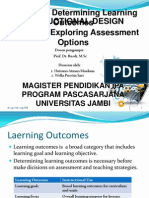 Determining Learning Outcomes & Exploring Assessment Option