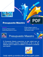 Eq. 5 Presupuesto Maestro