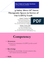 Therapeutic Spaces in Service of Our LGBTQ Youth
