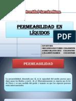 Permeabilidad de Liquidos