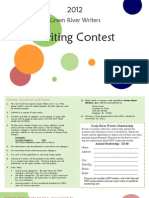 2012 Green River Writers Contest Flyer