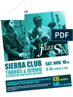 Jazz in Six - Sierra Club Event November 10, 2012 at 6p.