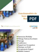 Presentation fonctionnalités