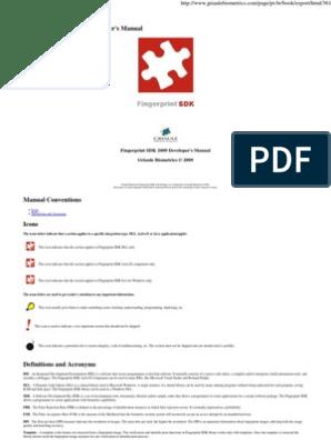 53926349 Fingerprint Sdk 2009 Manual English | Component Object