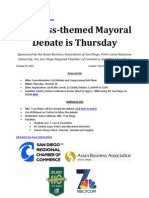 Business-themed #SDMayor Debate is Thursday