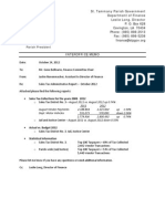 2012 St. Tammany Parish Sales Tax Report - October