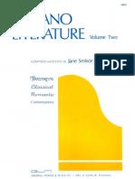 Piano Literature - Vol. 2