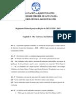 Regimento_Eleitoral - Eleicoes DCE-UFSM 2012