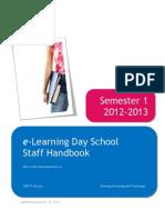 TDSB E-Learning Staff Handbook Sem 1 2012-13 Public