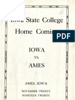 1920 Homecoming Football Program