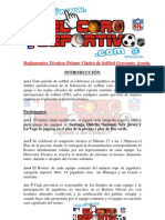 Reglamentos Oficiales 1ER Clasico Softbol Geovanny Acosta