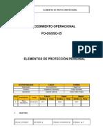 PO-DGSSO-35 Elementos de Protección Personal