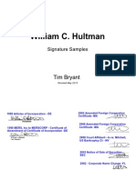 MERS William Hultman Signatures