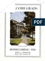 1924 Homecoming Football Program