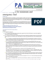 IFALPA ATS Briefing Leaflet - ICAO Changes for Minimum and Emergency Fuel