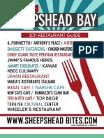 Sheepshead Bay Restaurant Guide 2012